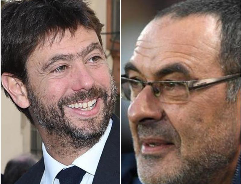 Sarri è il nuovo allenatore della Juventus. Il tecnico arriva dal Chelsea, contratto triennale