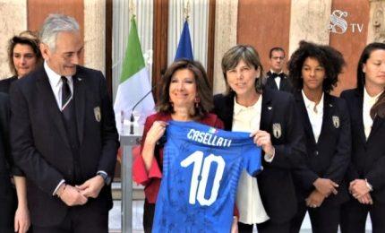 """Casellati riceve le Azzurre: """"Riscattate lo smacco dei maschi"""""""