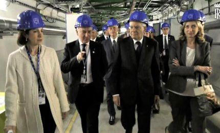 Mattarella al Cern visita l'acceleratore di particelle LHC