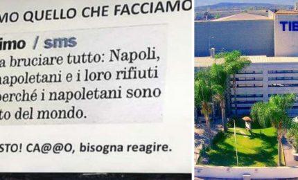 """""""Bruciare napoletani e loro rifiuti"""", poi azienda si scusa"""