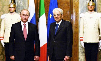 Mattarella vede Putin, preoccupazione per terrorismo e Libia