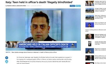 """Foto dell'americano bendato sui media Usa: """"Scioccante"""". La spiegazione dei Carabinieri"""