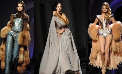 Addio pelliccia, Gaultier fa sfilare il trompe l'oeil animalier