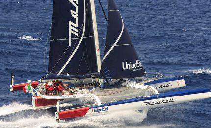 Transpacific Yacht Race, Soldini in navigazione sul Maserati multi 70