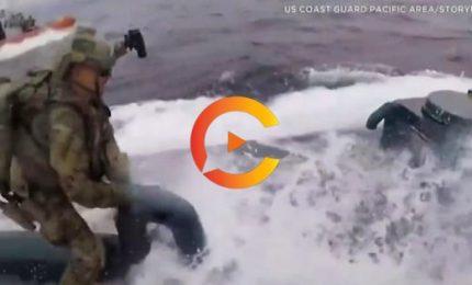Guardia costiera Usa all'arrembaggio di un sottomarino dei narcos
