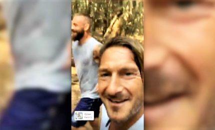 Totti e De Rossi, jogging insieme nella pineta di Sabaudia