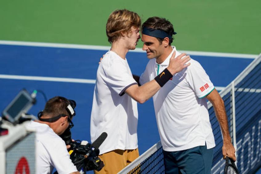 Federer cade a Cincinnati, con Rublev ko lampo