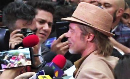 Brad Pitt alla prima di C'era una volta a Hollywood