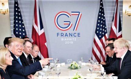 """G7, Trump conquista la scena e l'asse con Johnson c'e: """"E' l'uomo giusto per la Brexit"""""""