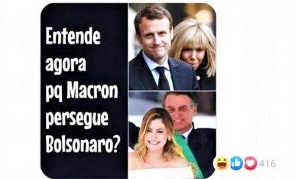Bolsonaro offende Brigitte. Macron: irrispettoso verso le donne