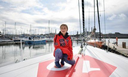 Greta verso New York con Casiraghi sulla barca a emissioni zero