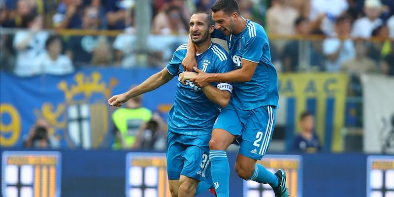 Juve ricomincia vincendo, Chiellini-gol affonda il Parma