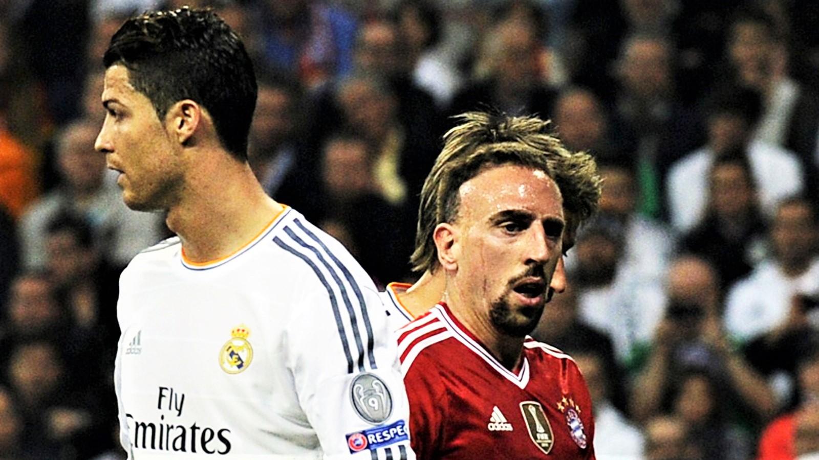 Clou Ronaldo-Ribery, 70 anni e 56 titoli in due