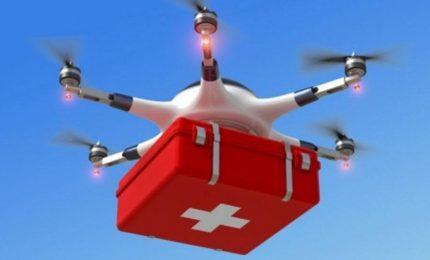 Pubblico di soccorso, un drone per trasporto defibrillatore