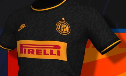 Inter presenta terza maglia, è nera con richiami al triplete