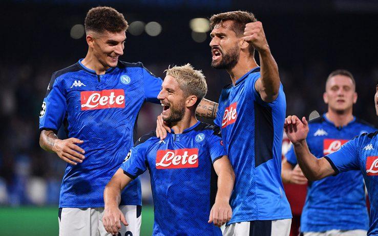 Champions: esordio show del Napoli, battuto Liverpool 2-0