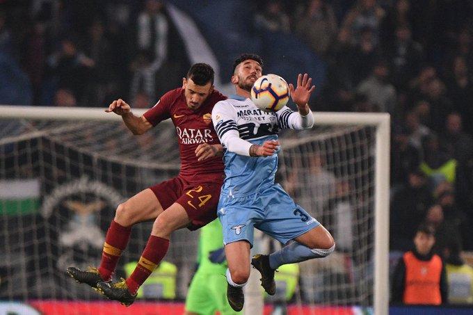 Lazio-Roma 1-1, a Kolarov risponde Luis Alberto
