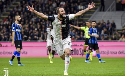 Higuain firma sorpasso, Inter ko Juve in vetta
