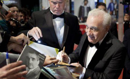 """Scorsese sul red carpet a Roma: """"Io e De Niro come una famiglia"""""""