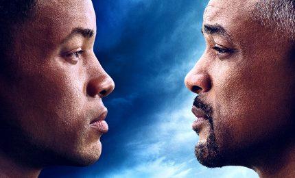 """Will Smith e il suo doppio nel film """"Gemini Man"""" di Ang Lee"""