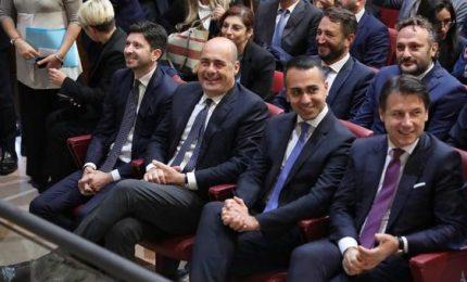 Per voto in Umbria prima foto del governo. Conte ci crede: alleanza ha futuro. Ma Renzi è assente