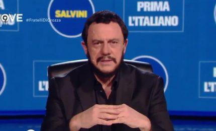 Crozza-Salvini: via maiale da tortellini, via fondi russi da Lega