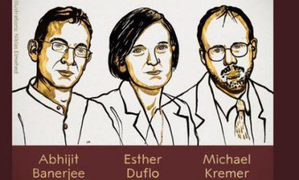 Nobel per l'Economia assegnato a Banerjee, Duflo e Kremer