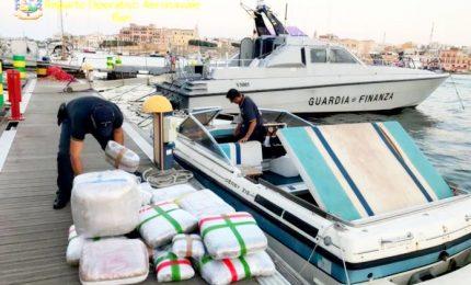 Mezza tonnellata di droga su motoscafo, un arresto