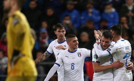 "L'Italia alza la ""manita"", il Liechtenstein atterra"