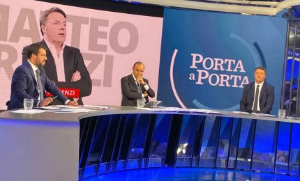 Renzi-Salvini, duello tv serrato ma vince fair play