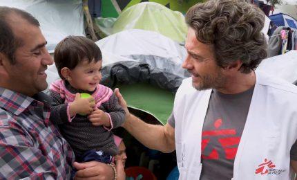 """Alessio Boni e MSF a Lesbo: """"Qui è come un girone dantesco"""""""