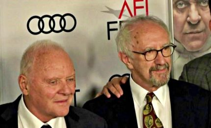"Red carpet per ""I due Papi"" Anthony Hopkins e Jonathan Price"