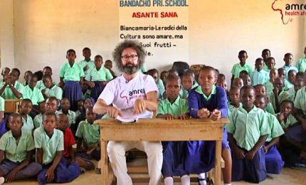 Cristicchi in Africa per i diritti dei bambini a essere bambini