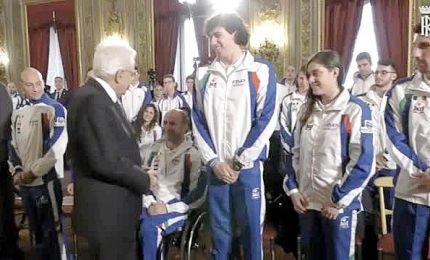 """Mattarella agli atleti paralimpici: """"Siete davvero campioni"""""""