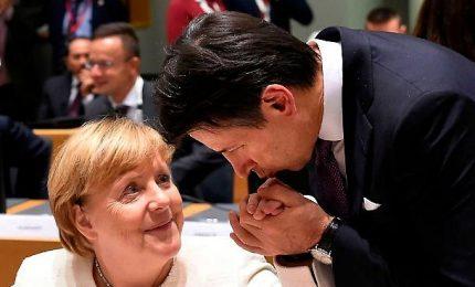 """Merkel incontra Conte: """"Dobbiamo portare avanti l'unione bancaria"""""""