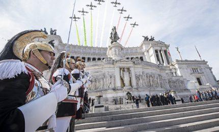4 novembre, festa della Forze Armate all'Altare della Patria