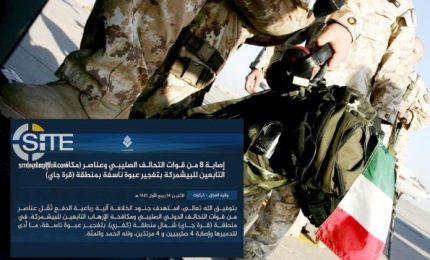 """Isis rivendica attacco ai militari italiani in Iraq. L'esercito del Califfato ha agito """"con il favore di Dio"""""""