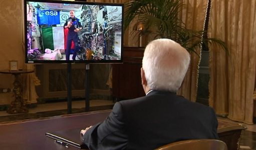 """Parmitano dalla Iss a Mattarella: """"Benvenuto a bordo"""""""