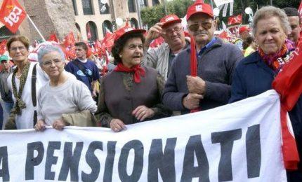 """Il grido dei pensionati: """"Il governo ci ascolti"""". Domani in piazza a Roma"""