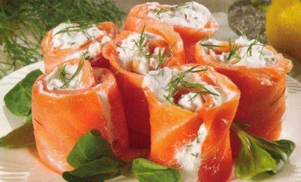 Salmone stufato con erbetta e formaggio
