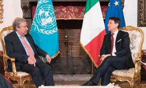 Onu, il segretario generale Guterres ricevuto da Conte