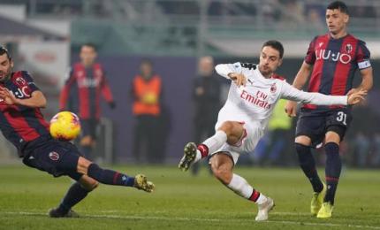 E' tornato Piatek, Bologna-Milan 2-3