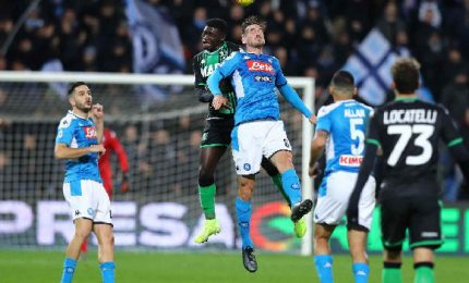 Il Napoli batte il Sassuolo, oggi la Juve può essere campione d'Italia