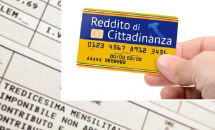 Reddito ad oltre un milione di famiglie, media 484 euro