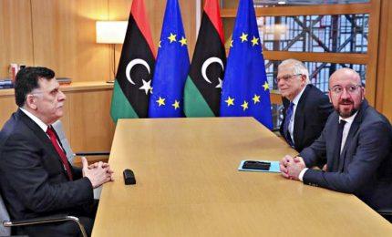"""Al-Sarraj ha incontrato a Bruxelles i vertici Ue. Michel: """"Inquietanti escalation in Libia"""""""
