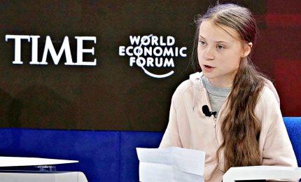 Greta Thunberg a Davos, sfida a distanza con Trump