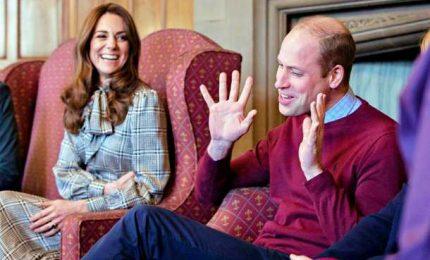 """La prima uscita pubblica di William e Kate dopo la """"Megxit"""""""
