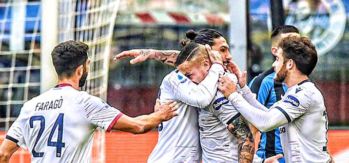 Nainggolan gela l'Inter, pari Cagliari e finale caos