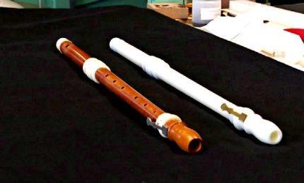 Flauto 18esimo secolo riprodotto con stampa 3D