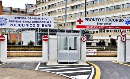 Policlinico di Bari, donna ricoverata con sintomi non dissimili da virus Cina